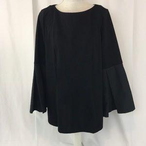 NWT Eloquii sz16 black bell sleeve tunic top